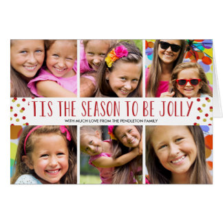 Jolly Holiday Multi-Photo Folded Card