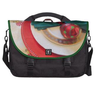Jolly Holly Christmas tablesetting motif on bag Computer Bag