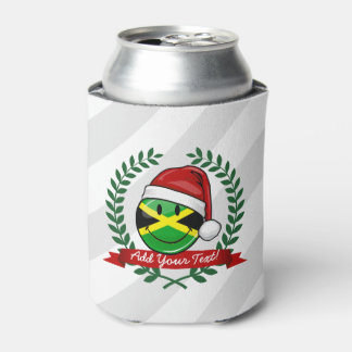 Jolly Jamaican Flag Christmas Style Can Cooler