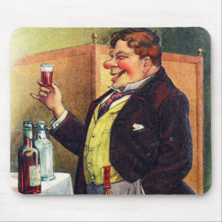 Jolly Man Toasting with Cognac Mouse Pad