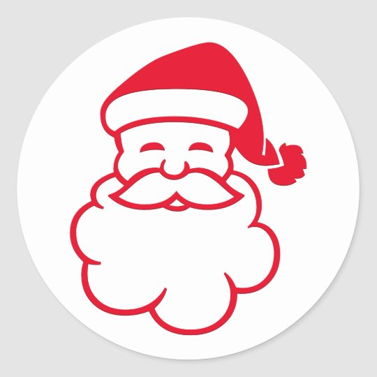 Jolly Merry Santa Claus Christmas Holiday Sticker