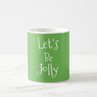 Jolly Minimal Typography Christmas Coffee Cup
