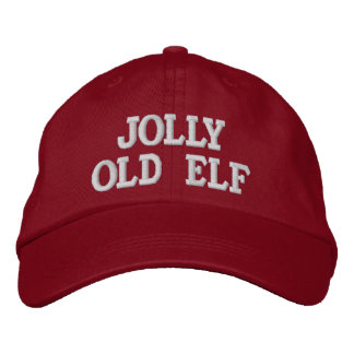 Jolly Old Elf Embroidery Cap