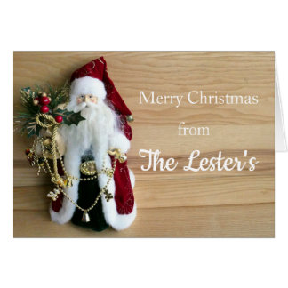 Jolly Old Saint Nick Personalized Christmas Card