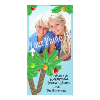 Jolly Palm Trees Holiday Greeting Card