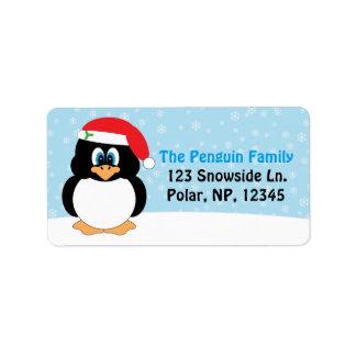 Jolly Penguin Christmas Label