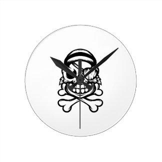 Jolly Pirate Round Clock