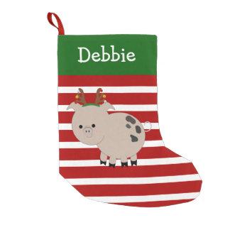 Jolly Reindeer Pet Pig Stocking