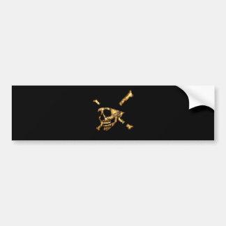 Jolly Roger #1-Burnt Bumper Sticker