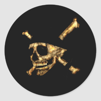 Jolly Roger #1-Burnt Round Sticker