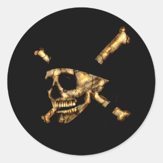 Jolly Roger #1-Burnt Round Sticker
