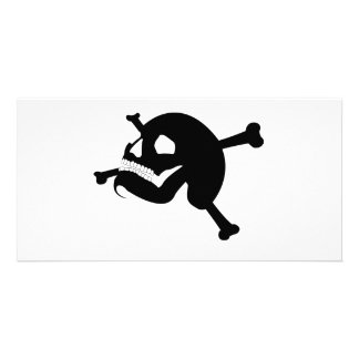 Jolly Roger # 2-Black Photo Card