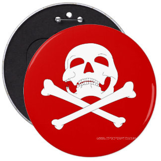 Jolly-Roger #4  6 Cm Round Badge