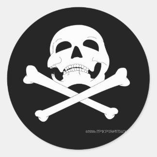 Jolly Roger #4 Round Sticker