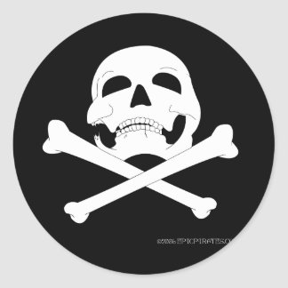 Jolly Roger #4 Round Stickers