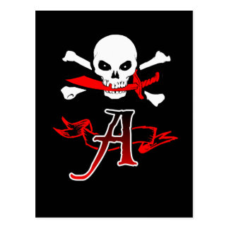 Jolly Roger A Monogram Initial Post Cards