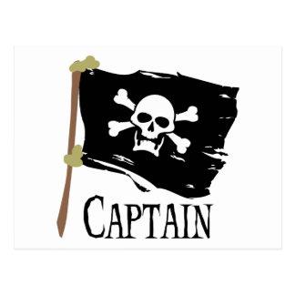 Jolly Roger Captain Postcard
