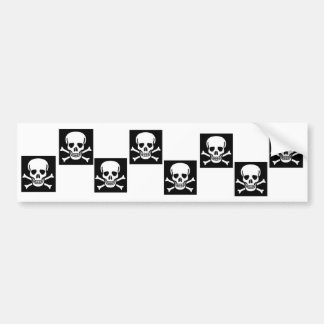 Jolly-Roger Checkered Bumper Sticker