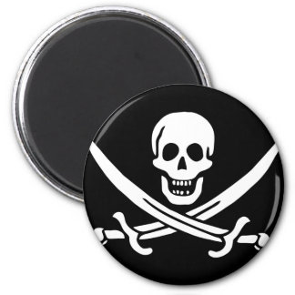 jolly-roger-clipart-5a 6 cm round magnet