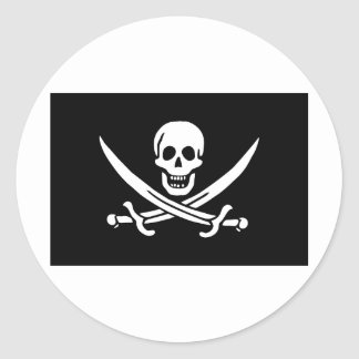 jolly-roger-clipart-5a round sticker