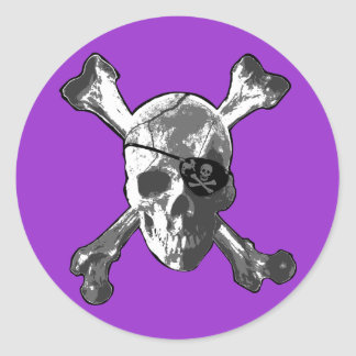 Jolly Roger Crossbones Round Sticker