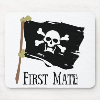 Jolly Roger First Mate Mouse Pad
