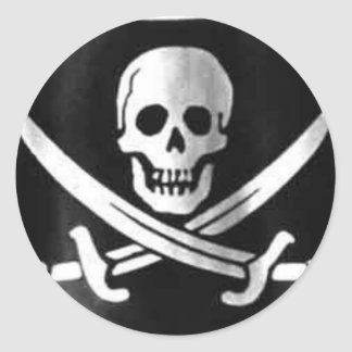 Jolly Roger Flag Round Sticker