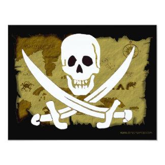 Jolly Roger Map #10 11 Cm X 14 Cm Invitation Card