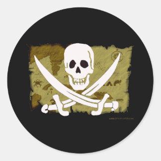 Jolly Roger Map #10 Round Sticker