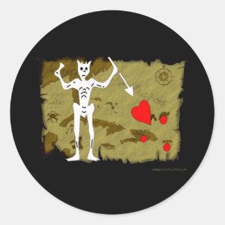 Jolly Roger Map  #1 Round Sticker