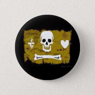 Jolly Roger Map #2 6 Cm Round Badge