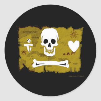 Jolly Roger Map #2 Stickers