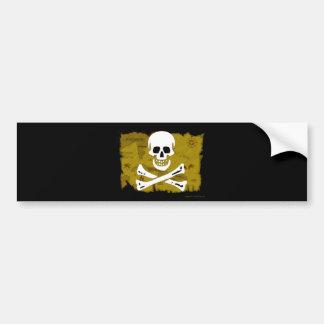 Jolly Roger Map #3 Bumper Sticker