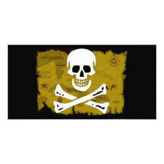 Jolly Roger Map #3 Customized Photo Card