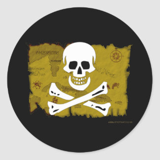 Jolly Roger Map #3 Stickers