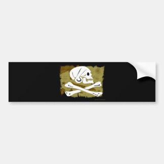 Jolly Roger Map #4 Bumper Sticker