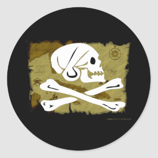 Jolly Roger Map #4 Stickers