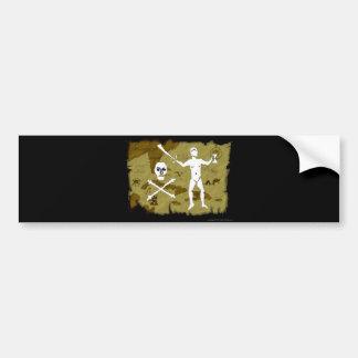 Jolly Roger Map # 5 Bumper Sticker
