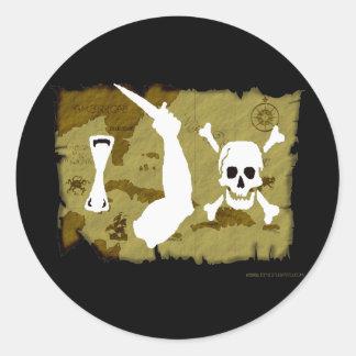 Jolly Roger Map #7 Round Sticker