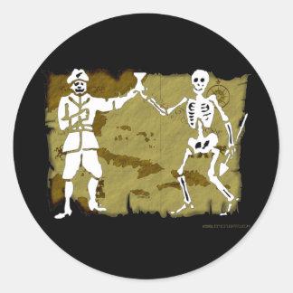 Jolly Roger Map  #8 Round Sticker
