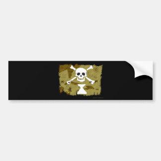 Jolly Roger Map  #9 Bumper Sticker