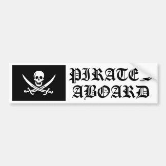 Jolly Roger of Calico Jack Rackham (BLACK) Bumper Sticker