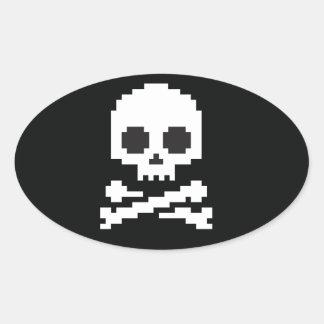 Jolly Roger Oval Sticker