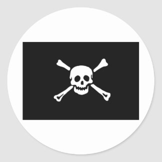 jolly-roger-own-work-1a round sticker