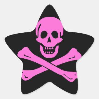 Jolly Roger Pink Star Sticker