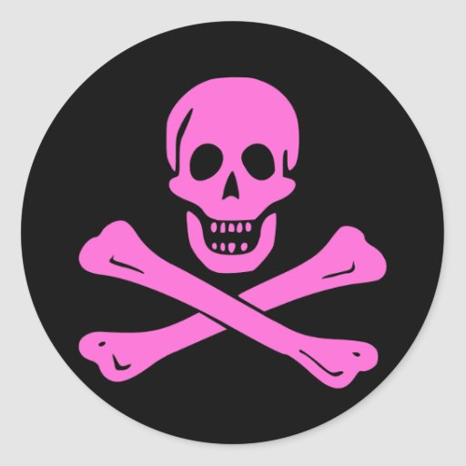 Jolly Roger Pink Stickers