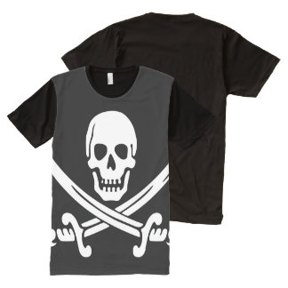 Jolly Roger Pirate All-Over Print T-Shirt