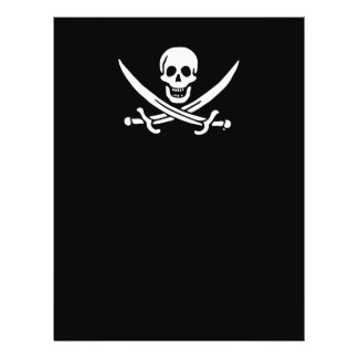 Jolly roger pirate flag personalized flyer
