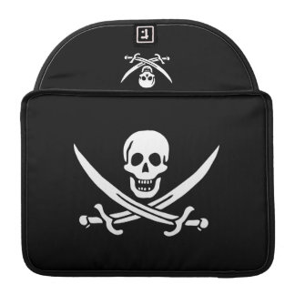 Jolly Roger Pirate Flag Macbook Pro Sleeve