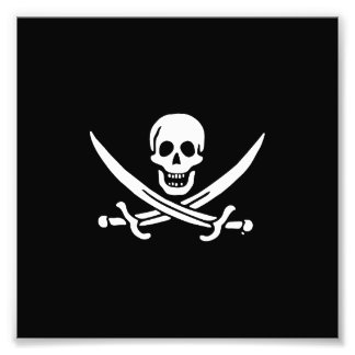 Jolly roger pirate flag photo